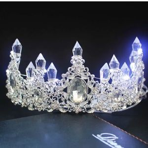 Ice light up bohemian festival crown crystal gypsy